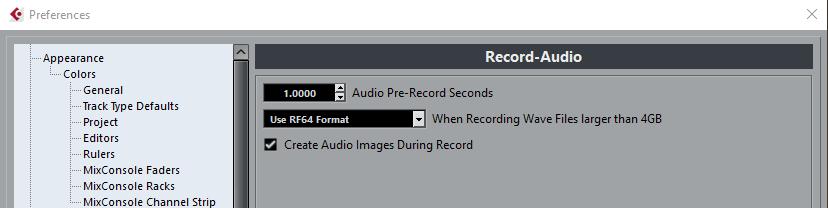 record-audio cubase