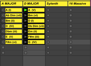 play chords in ableton