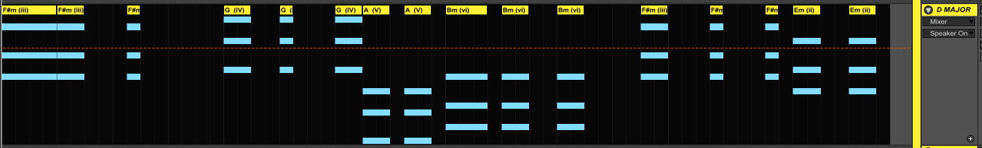 recording chords in ableton