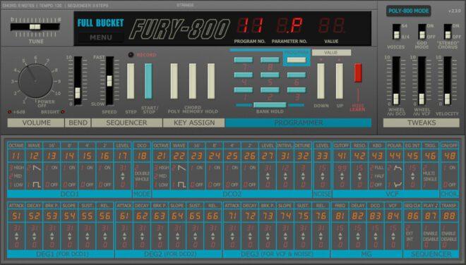 fury 800 korg poly 800 emulation